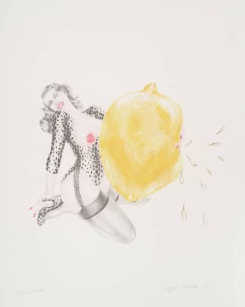 Take One Lemon 1971 by Margaret Harrison born 1940